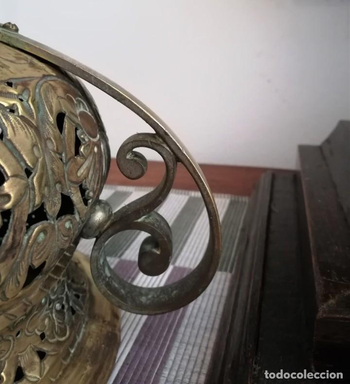 Antigüedades: Macetero bronce y latón - Foto 8 - 218475617