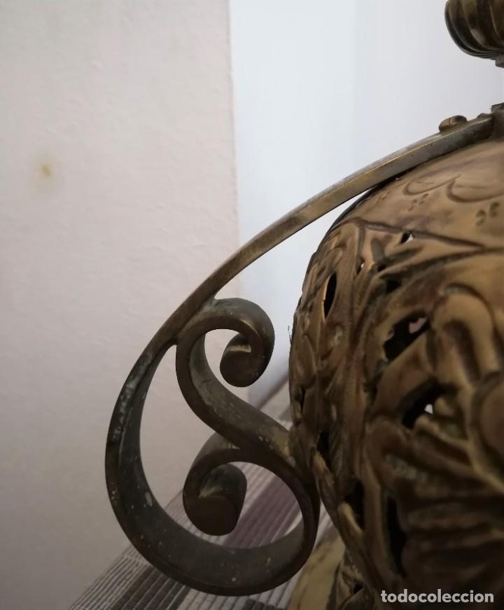 Antigüedades: Macetero bronce y latón - Foto 9 - 218475617