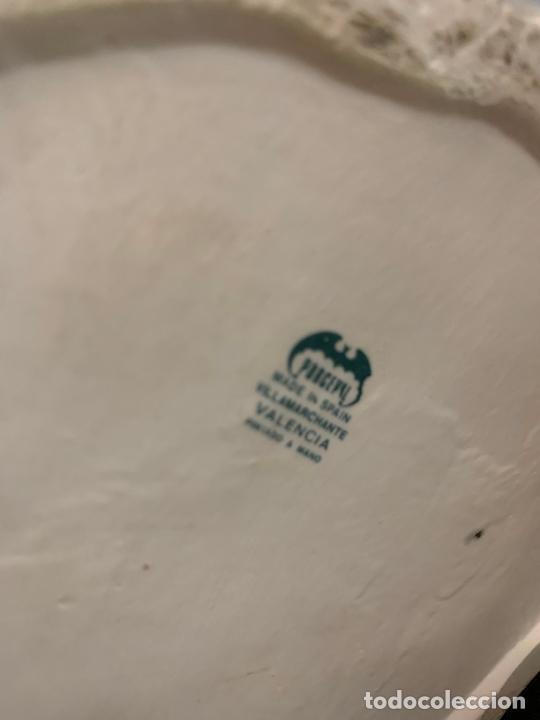 Antigüedades: Extraordinario jarron porcelana, con buho o lechuza. Precioso color. Porceval. 30cms. Impecable - Foto 14 - 218484690