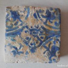 Oggetti Antichi: AZULEJO. MANISES. SIGLO XV. ORIGINAL¡¡¡. Lote 218490081