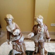 Antigüedades: FIGURAS DE PORCELANA FRANCESA. Lote 218514515