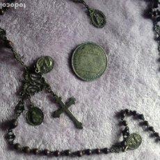 Antigüedades: ROSARIO XVIII PLATA MEDALLAS. Lote 218521198