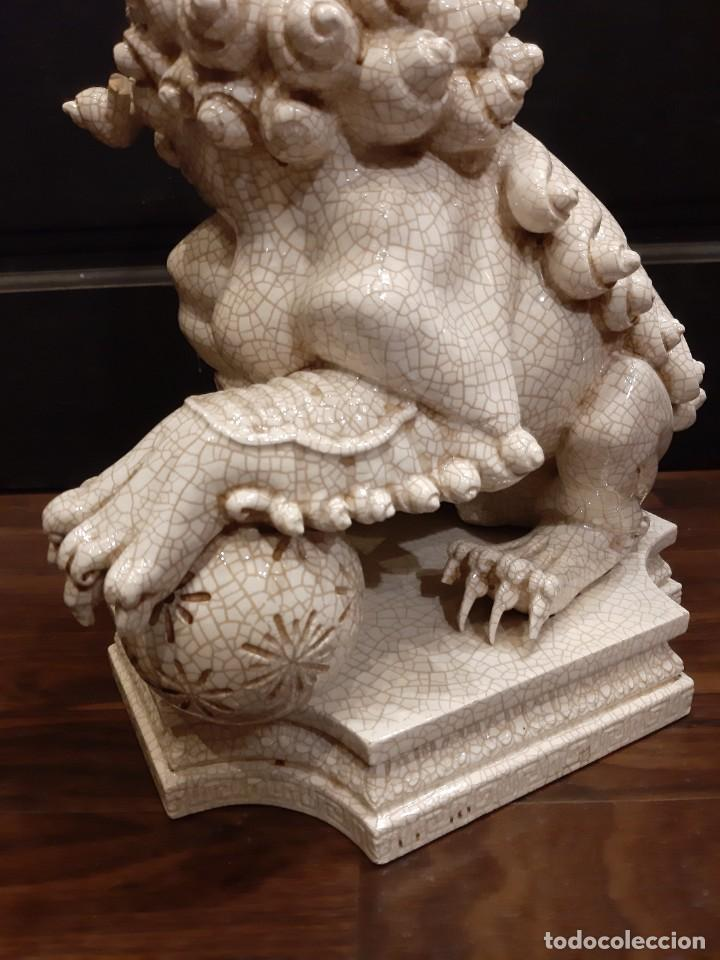 Antigüedades: LEON CHINO FIRMADO ALGORA 40X38X25 Cms / NECESITA RESTAURACIÓN / NO ENVIO (G) - Foto 4 - 218541068
