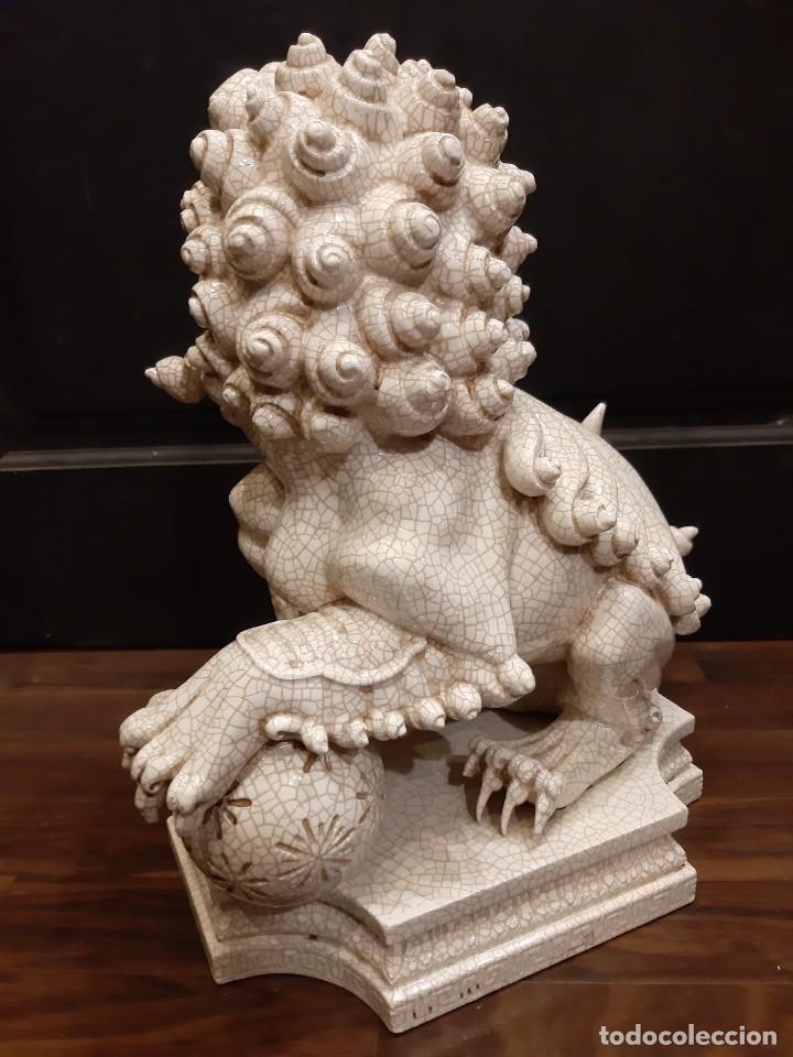 Antigüedades: LEON CHINO FIRMADO ALGORA 40X38X25 Cms / NECESITA RESTAURACIÓN / NO ENVIO (G) - Foto 13 - 218541068