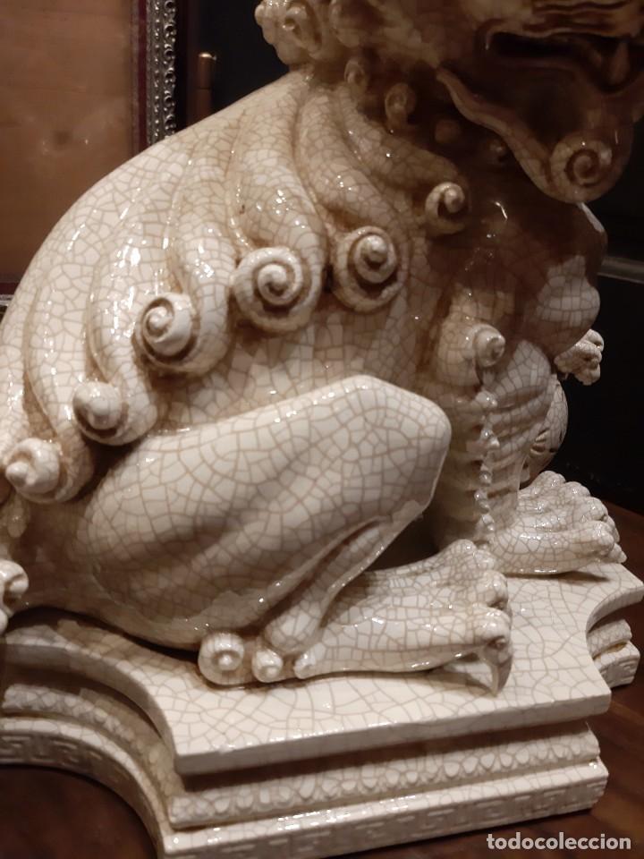 Antigüedades: LEON CHINO FIRMADO ALGORA 40X38X25 Cms / NECESITA RESTAURACIÓN / NO ENVIO (G) - Foto 20 - 218541068