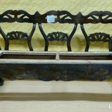 Antigüedades: BANCO CON TRIPLE RESPALDO EN MADERA DE CAOBA SIGLO XX, 6000-320. Lote 45683191