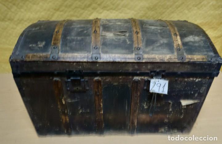 Antigüedades: BAÚL SIGLO XX EN MADERA DE PINO, 6000-291 - Foto 2 - 116101686