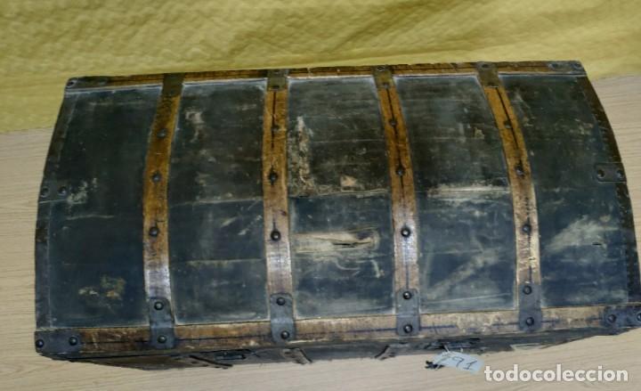 Antigüedades: BAÚL SIGLO XX EN MADERA DE PINO, 6000-291 - Foto 3 - 116101686