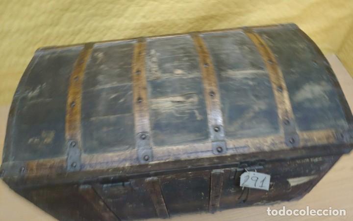 Antigüedades: BAÚL SIGLO XX EN MADERA DE PINO, 6000-291 - Foto 4 - 116101686