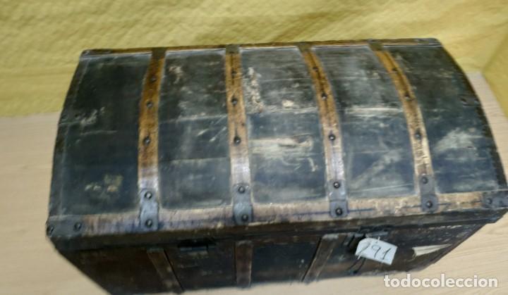 Antigüedades: BAÚL SIGLO XX EN MADERA DE PINO, 6000-291 - Foto 7 - 116101686