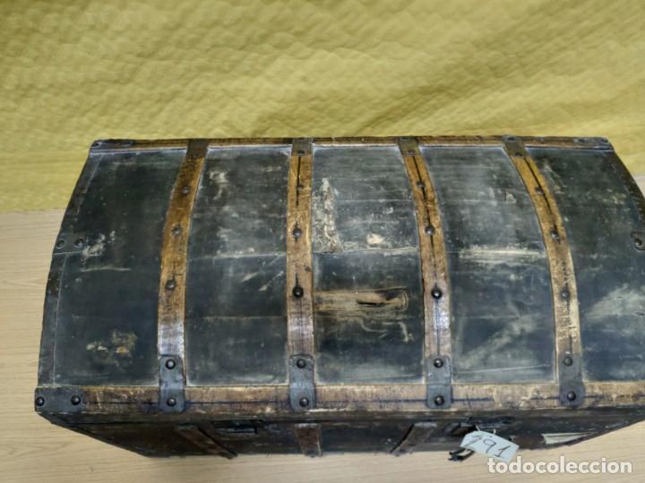 Antigüedades: BAÚL SIGLO XX EN MADERA DE PINO, 6000-291 - Foto 11 - 116101686