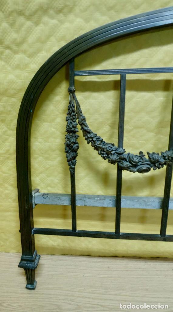 Antigüedades: CAMA CON CABECERO Y TRASERA EN BRONCE SIGLO XX, 6000-275 - Foto 5 - 45753260