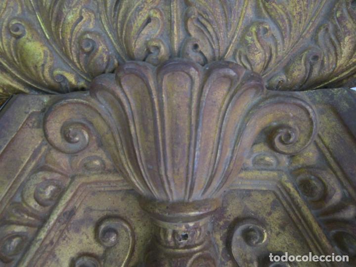 Antigüedades: Antigua Pareja de Paneles para Apliques, Decoración - Bronce Cincelado - 20 Kg Unidad - S. XIX - Foto 11 - 218560271