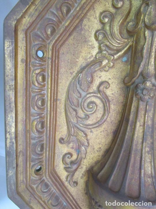 Antigüedades: Antigua Pareja de Paneles para Apliques, Decoración - Bronce Cincelado - 20 Kg Unidad - S. XIX - Foto 16 - 218560271