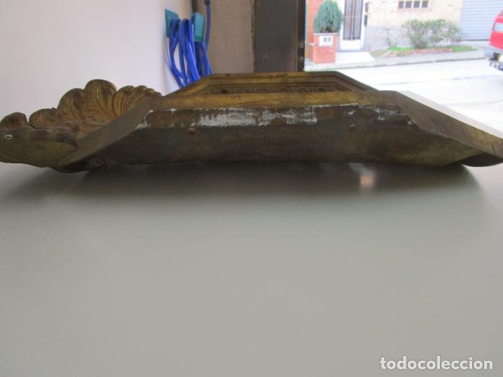 Antigüedades: Antigua Pareja de Paneles para Apliques, Decoración - Bronce Cincelado - 20 Kg Unidad - S. XIX - Foto 23 - 218560271