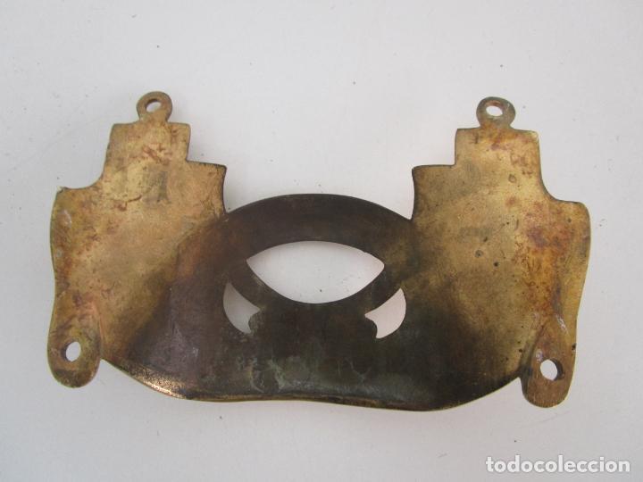 Antigüedades: Pareja de Candelabros y Asas de Piano - Art Nouveau - Bronce Cincelado - Foto 20 - 218563032