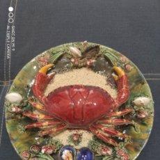 Antiquités: PRECIOSO PLATO CERÁMICA MAJOLICA ALTA CALIDAD CERAMISTA ÁLVARO JOSE CALDAS DA RAINHA, PORTUGAL,.. Lote 218563247