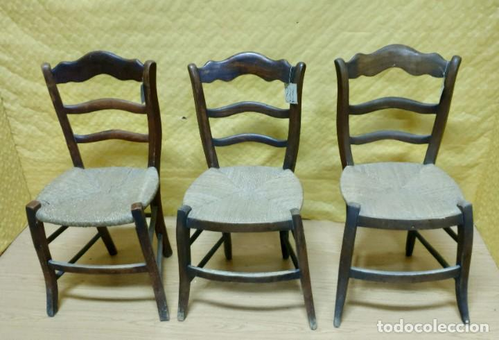 Antigüedades: SILLAS (3 Unidades) EN MADERA DE HAYA, 6000-231 - Foto 2 - 48295809