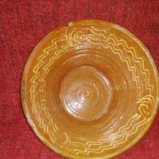 Antigüedades: LEBRILLO. RECIPIENTE DE BARRO VIDRIADO Y DECORADO. ENVIO CERTIFICADO INCLUIDO.. Lote 218570750