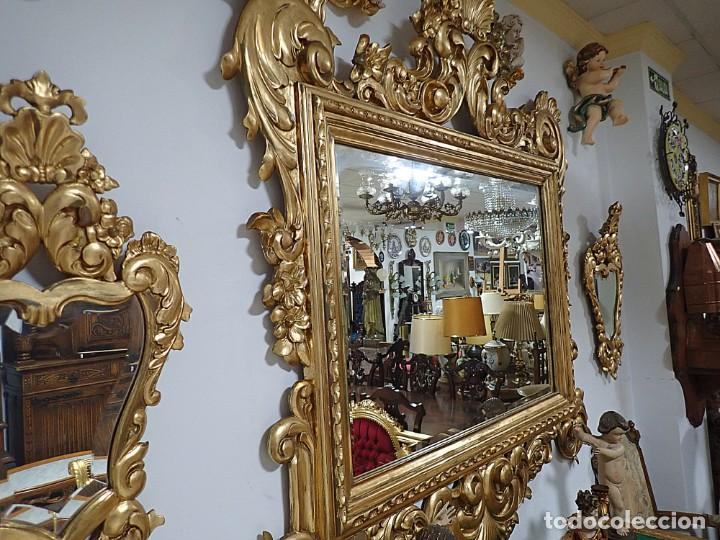Antigüedades: Pareja de Cornucopias doradas antiguas - Foto 3 - 218579667