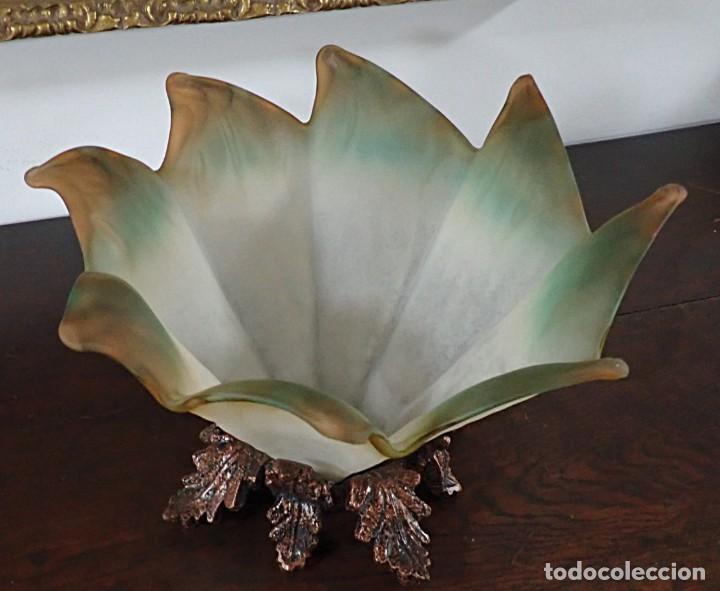 Antigüedades: Centro de mesa en opalina - Foto 3 - 218585777