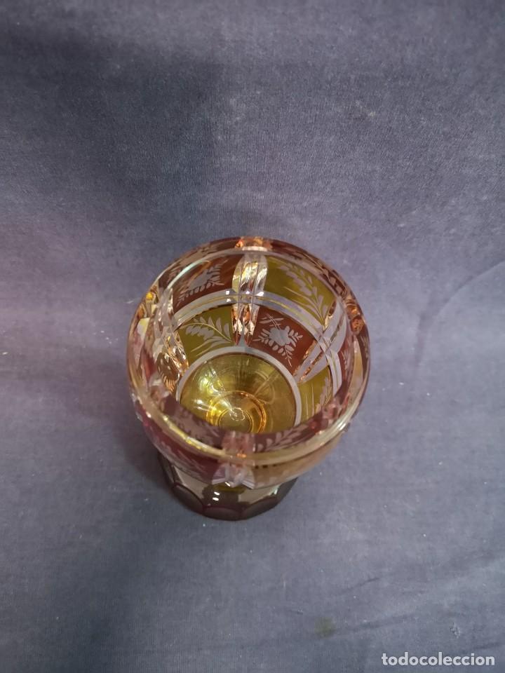 Antigüedades: JARRON COLECCION DE BOHEMIA - Foto 7 - 218606101