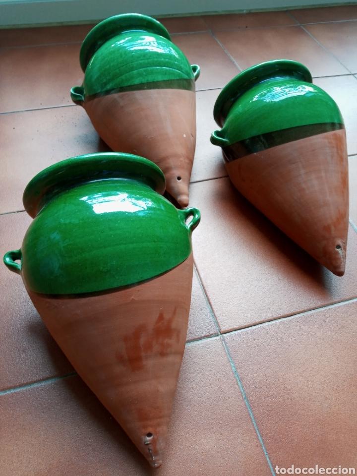 Antigüedades: 3 Maceteros de colgar La Bisbal - Foto 2 - 218606175