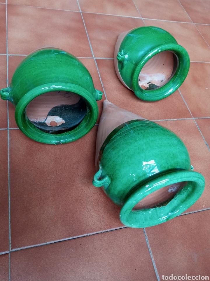Antigüedades: 3 Maceteros de colgar La Bisbal - Foto 3 - 218606175