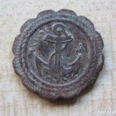 Antigüedades: FICHA MONETARIA FRANCESA DE 20 CTS CON ANCLA. POSIBLE S XIX. Lote 218610087