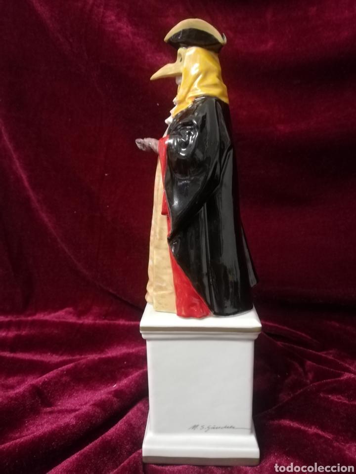 Antigüedades: Figura de porcelana algora carnaval veneciano - Foto 2 - 218610293
