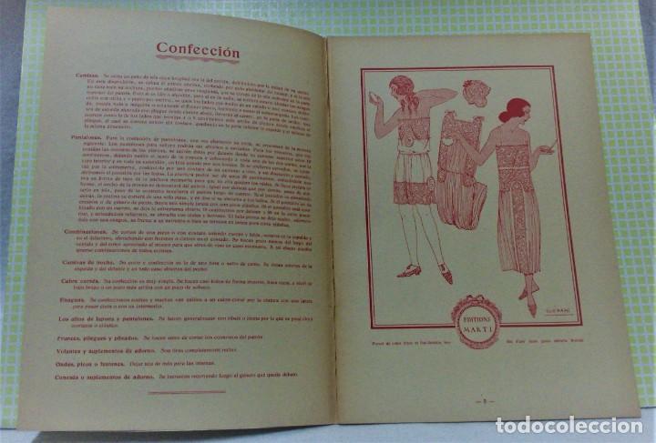 Antigüedades: PATRONES GRADUABLES MARTÍ .LENCERIA.CUADERNO,LÁMINAS,PATRONES Y GUIA.AÑOS 20 - Foto 3 - 218621617