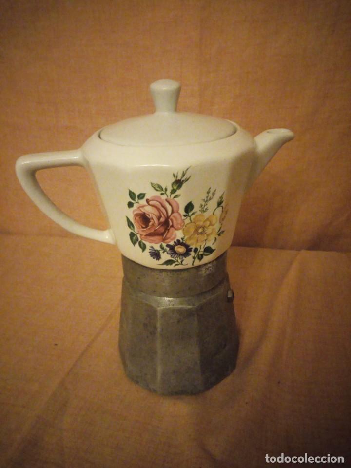Antigüedades: Antigua cafetera de porcelana y aluminio moira express made in italy. original. - Foto 3 - 199672322