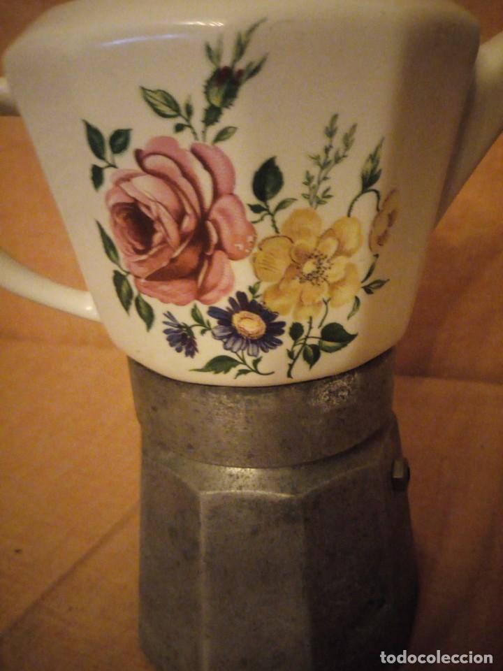 Antigüedades: Antigua cafetera de porcelana y aluminio moira express made in italy. original. - Foto 4 - 199672322