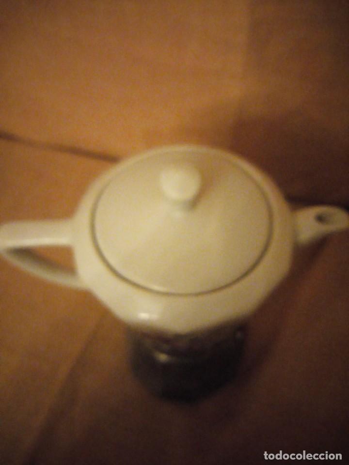 Antigüedades: Antigua cafetera de porcelana y aluminio moira express made in italy. original. - Foto 6 - 199672322