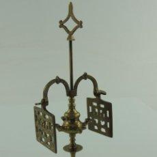 Antigüedades: CANDELABRO DE BRONCE. Lote 218636802