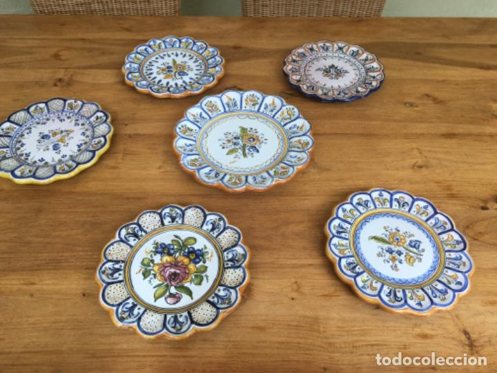 SEIS PLATOS DE CERÁMICA DE TALAVERA (Antigüedades - Porcelanas y Cerámicas - Talavera)