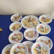 Antigüedades: ANTIGUO SERVICIO PARA APERITIVOS DE QUESO PORCELANA FRANCESA IMPECABLE. Lote 218660320