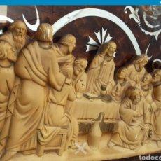 Antigüedades: ESCULTURA SANTA CENA AÑOS70. Lote 218666433