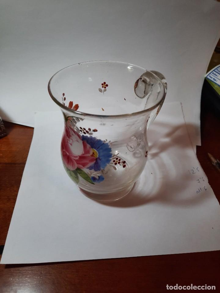 Antigüedades: preciosa jarra de cristal siglo XVIII O PPS. xix - Foto 4 - 29979437