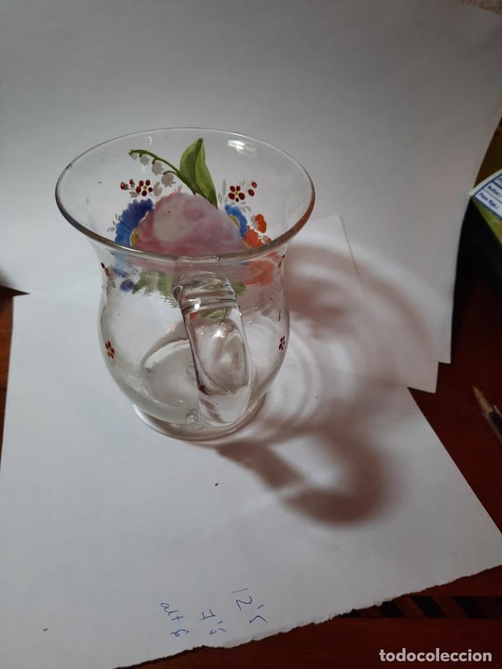 Antigüedades: preciosa jarra de cristal siglo XVIII O PPS. xix - Foto 5 - 29979437