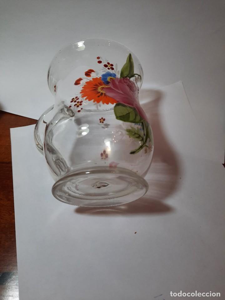 Antigüedades: preciosa jarra de cristal siglo XVIII O PPS. xix - Foto 6 - 29979437