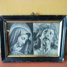 Oggetti Antichi: CUADRO VIRGEN Y JESÚS. MEDIDAS 19.5*13.5. MUY VINTAGE.. Lote 218677800