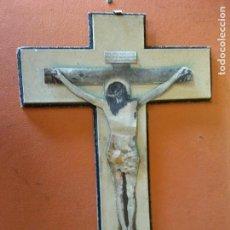 Antigüedades: CRISTO. MEDIDAS 22* 33 CM. MUY VINTAGE.. Lote 218677982
