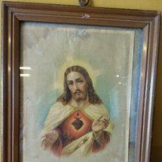 Antigüedades: CUADRO S. COEUR DE JESUS. Nº00. MEDIDAS 26*32 CM. MUY VINTAGE.. Lote 218678807