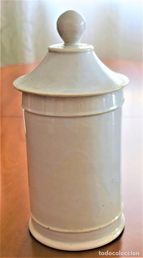 Antigüedades: LOTE DOS TARROS DE FARMACIA ANTIGUOS 24 CM ALTURA POMADA BELLADONA Y POMADA BREA - Foto 14 - 218701018