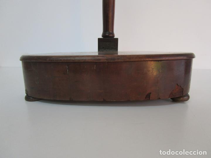 Antigüedades: Curioso Mueble Auxiliar - Soporte para Escupidera - Madera de Caoba - S. XIX - Foto 2 - 218711168