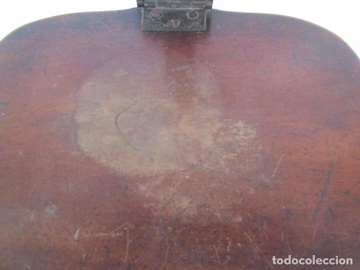 Antigüedades: Curioso Mueble Auxiliar - Soporte para Escupidera - Madera de Caoba - S. XIX - Foto 6 - 218711168