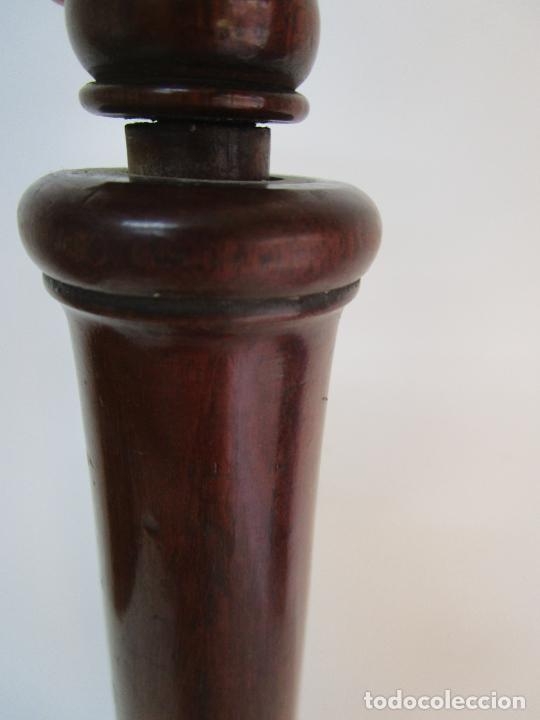 Antigüedades: Curioso Mueble Auxiliar - Soporte para Escupidera - Madera de Caoba - S. XIX - Foto 10 - 218711168
