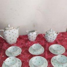 Antigüedades: MAGNÍFICO JUEGO DE CAFÉ ANTIGUO PORCELANA LIMOGES. Lote 218716308