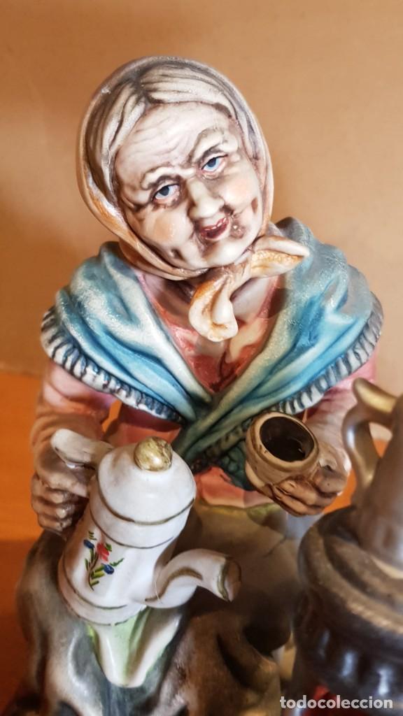 Antigüedades: EXQUISITA FIGURA DE CERÁMICA AR.CE.MI / PAREJA DE ANCIANOS / MUCHO DETALLE/ PERFECTO ESTADO. - Foto 6 - 218720567
